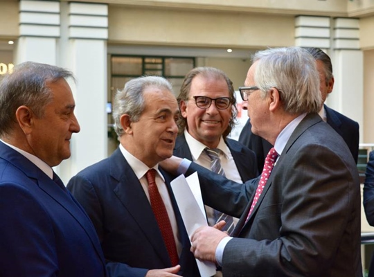 Meeting of the President Georgios Romosios with the President Jean Claude Juncker